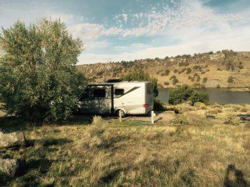 RV at spot # 41 Massacre Rocks State Park